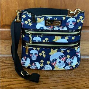 Betray Johnson Americana skull crossbody bag
